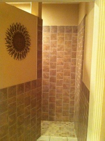 1884 Wildwood Bed and Breakfast Inn:                                     shower in morrocan suite