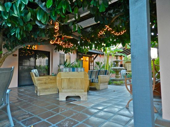 Hotel California:                                     Comfortable outdoor area