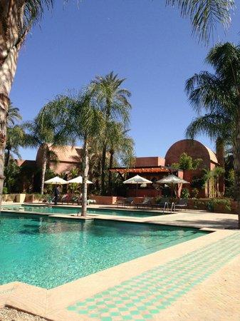 Palais Aziza & Spa :                   Heated Pool and Bar Area