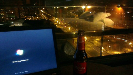 Barcelona Princess:                   View from room on 11th - late night work!