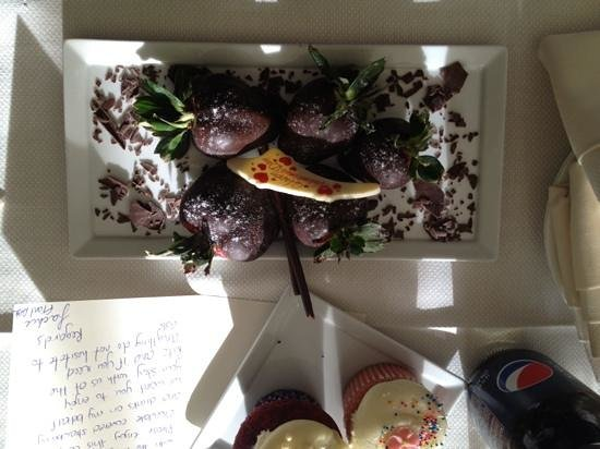 The Ritz-Carlton, Westchester:                   special treat from the front desk!