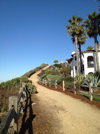 The Ritz-Carlton Bacara, Santa Barbara:                                     The beachfront trail headed to Miro