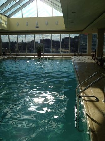 The Ritz-Carlton New York, Westchester:                   sunny skylit pool