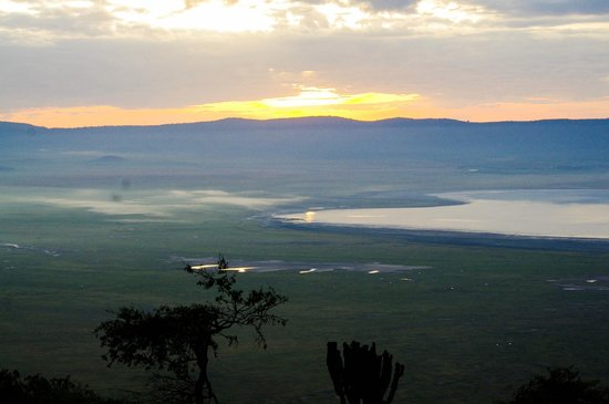 andBeyond Ngorongoro Crater Lodge:                   Sunrise on the crater