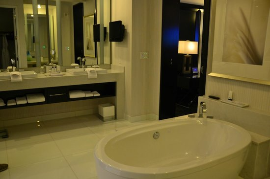 ARIA Resort & Casino:                   our awesome bathroom