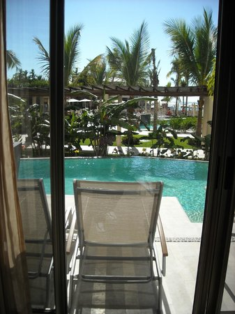 Now Amber Puerto Vallarta:                   view from suite to swim out