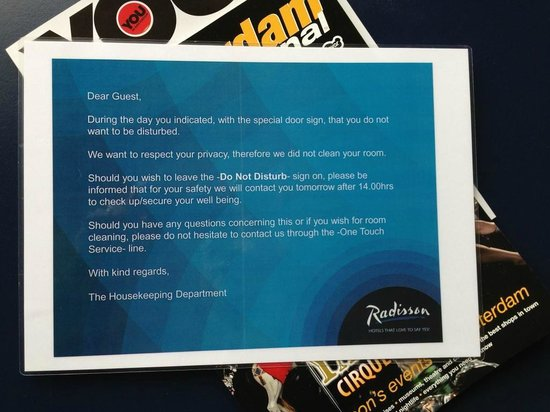 Radisson Blu Hotel Amsterdam Airport: They care about guests