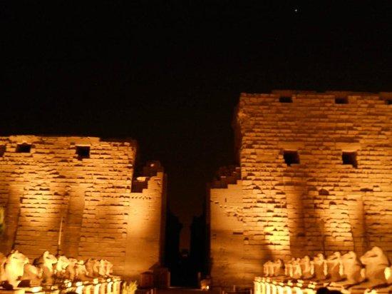 Luxor Sound and Light Show: Karnak sound and light, main Pylon