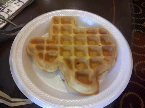 Microtel Inn & Suites by Wyndham Aransas Pass/Corpus Chris:                   Texas Waffeln vom Frühstück sehr lecker !!
