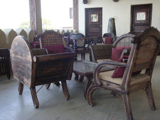 Al Johari:                   furniture on roof terrace