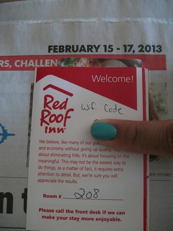 Red Roof Inn North Little Rock:                   Checked in Feb. 16, 2013. This serves as proof.