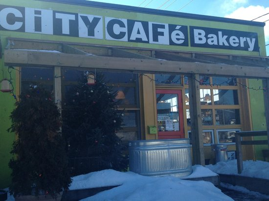 Front entrance of City Cafe Bakery - February 2013