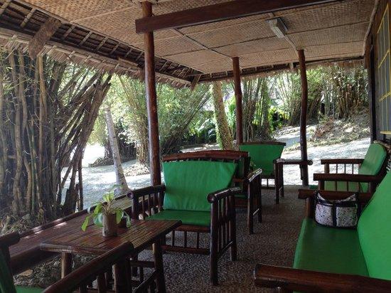 Costa Aguada Island Resort:                   Front porch of cabin
