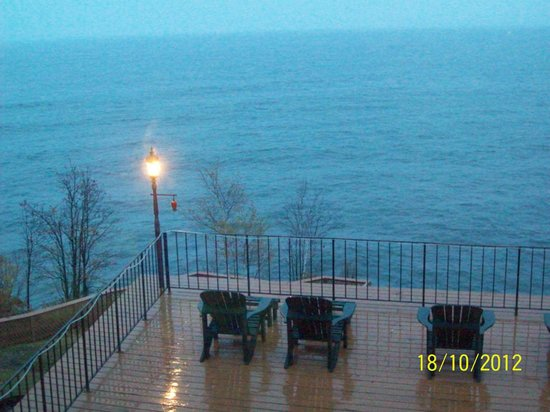 Chateau LeVeaux on Lake Superior:                   Looking out our hotel room