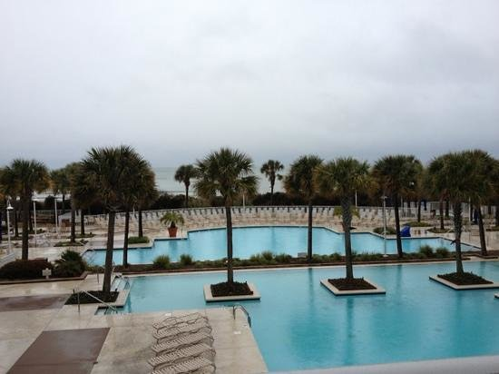 Myrtle Beach Marriott Resort & Spa at Grande Dunes:                   even on a rainy day it's an amazing view!