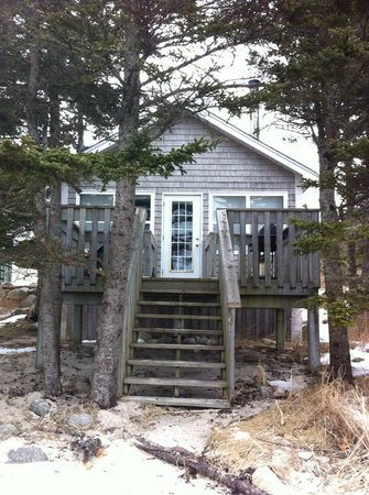 Oceanstone Resort:                   Cottage from the beach