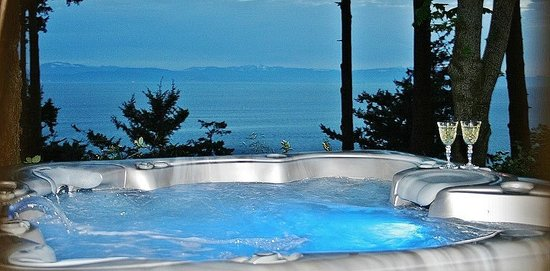 Inn-Nature Retreat & Spa: Ocean front hot tub
