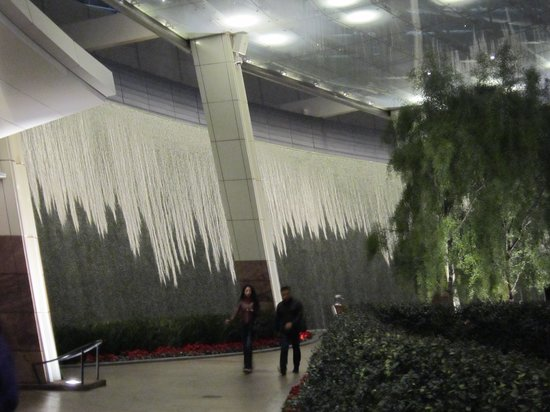 Aria Hotel & Casino: Water Wall entrance