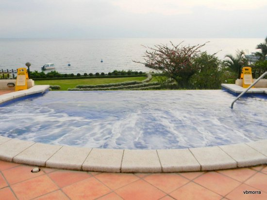 Hotel Atitlan:                   View from infinity jacuzzi