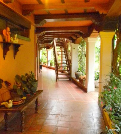 Hotel Atitlan :                   Hallway to rooms.