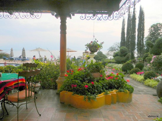 Hotel Atitlan :                   View from outdoors dining room