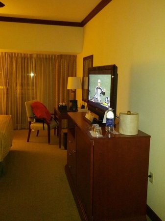 Hyatt Regency Orlando International Airport:                   Television and desk