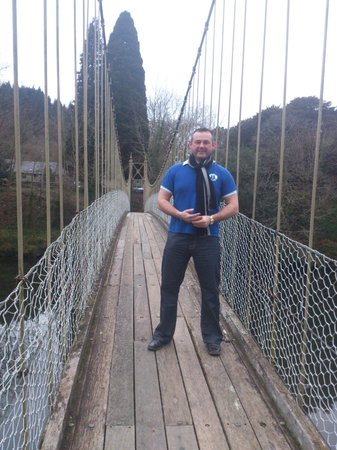 ‪‪Maes-y-Garth‬: myself on the rope bridge‬