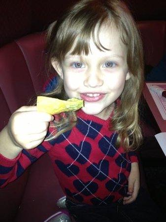Avery loves Lorenzo's guacamole!