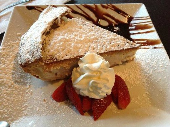 Lemoni Cafe : AMAZING homemade ricotta tart - a culinary masterpiece.