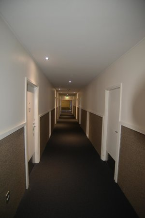 The Hermitage Hotel:                   The dingy hallway, now think of old vacuum cleaner bag smells