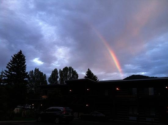 The Lexington at Jackson Hole Hotel & Suites:                   rainbow over the Lexington