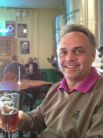 Oak Creek Brewery :                                     Enjoying a beer