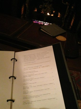 Fairview Inn:                   Library Lounge Non Alcoholic Menu