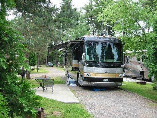 South Bend/Elkhart North KOA: Lots of trees, lots of smiles, lots of fun ,lots of camping