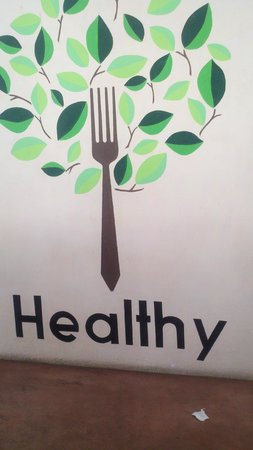 Healthy Restaurant & Wine Bar:                   Logo Created by Owner's Son