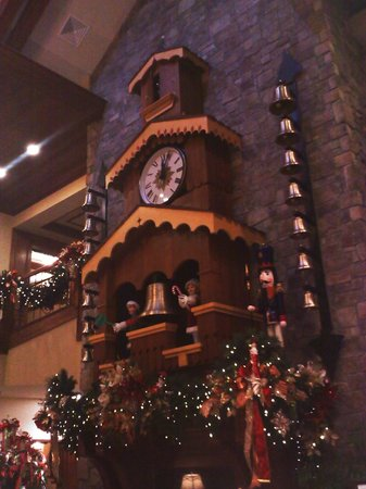 The Inn at Christmas Place:                   Clock in lower lobby