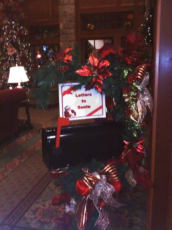 The Inn at Christmas Place:                   In lower lobby