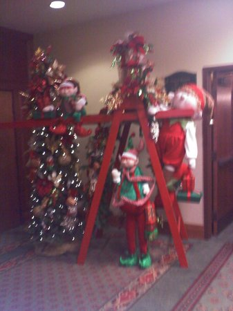 The Inn at Christmas Place:                   So cute! In lower lobby.