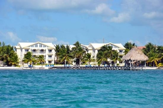 Pelican Reef Villas Resort:                   view from our boat