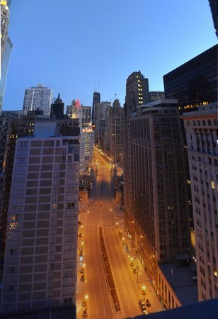 Hard Rock Hotel Chicago: Morning view.