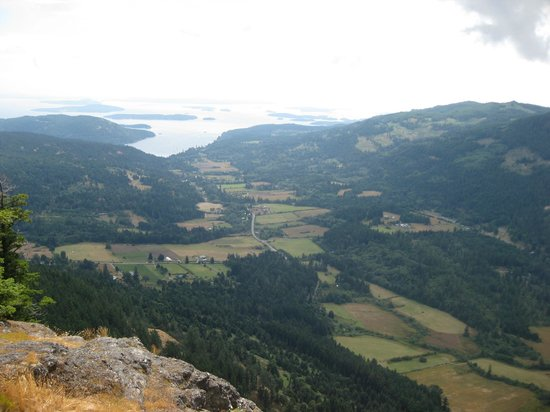 Mount Maxwell Provincial Park:                   View of Fulford valley from Mt. Maxwell.