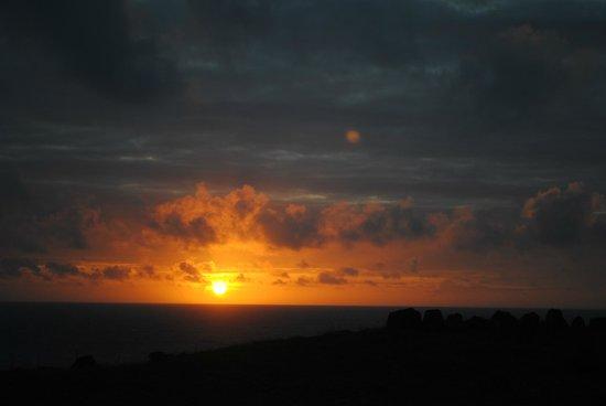 Cabanas Christophe: Sunset from the balcony