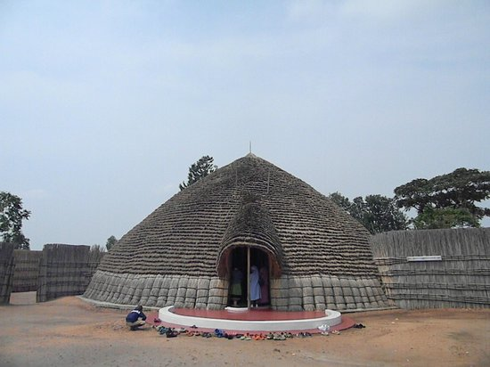 National Museum of Rwanda :                   The outside of the King's Hut