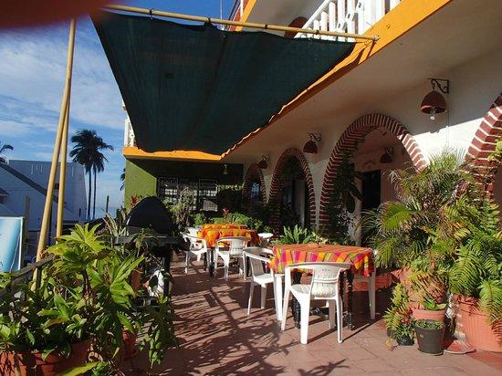 Mariana Beach Apartments & Hotel:                   On the veranda in the second floor