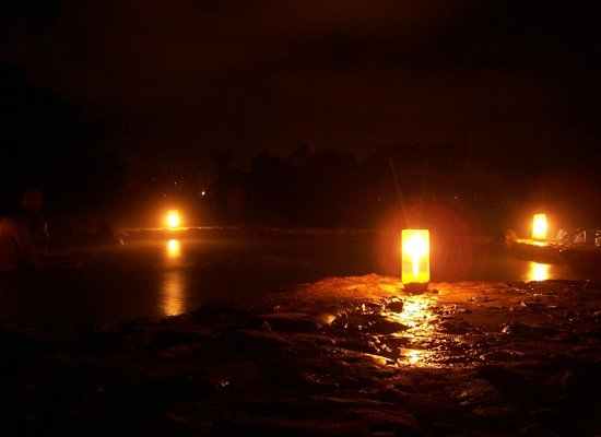 Villa de Leyva, Colombia: Candle-lit natural springs