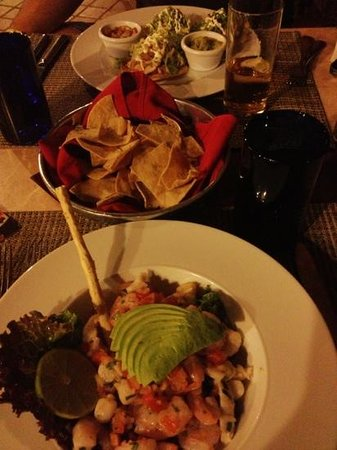 The Royal Haciendas All Suites Resort & Spa:                   Ceviche and tostadas