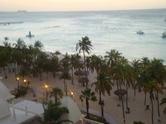 Hotel Riu Palace Aruba: view (to the right) from room