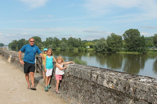 Logis La Breche:                   Walk from hotel to town