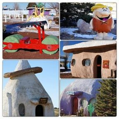 Flintstone's Bedrock City decor