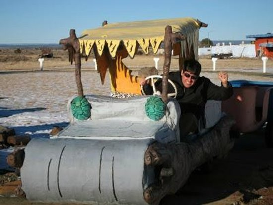 Flintstone's Bedrock City: Get in the cars for some fun photo opportunities